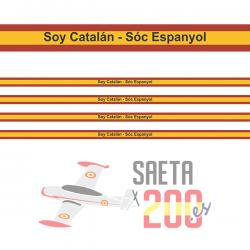 Pulsera Bandera de España - Soy Catalán - Sóc Espanyol - Cinta 10 mm